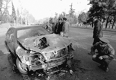 The car that saved Shevardnadzes life. The armour stood up to a massive attack from machine guns and grenades.